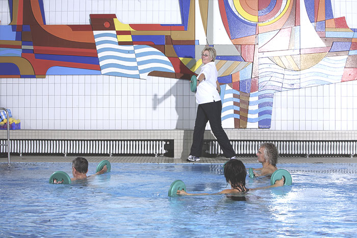 Patienten beim Aquafitness